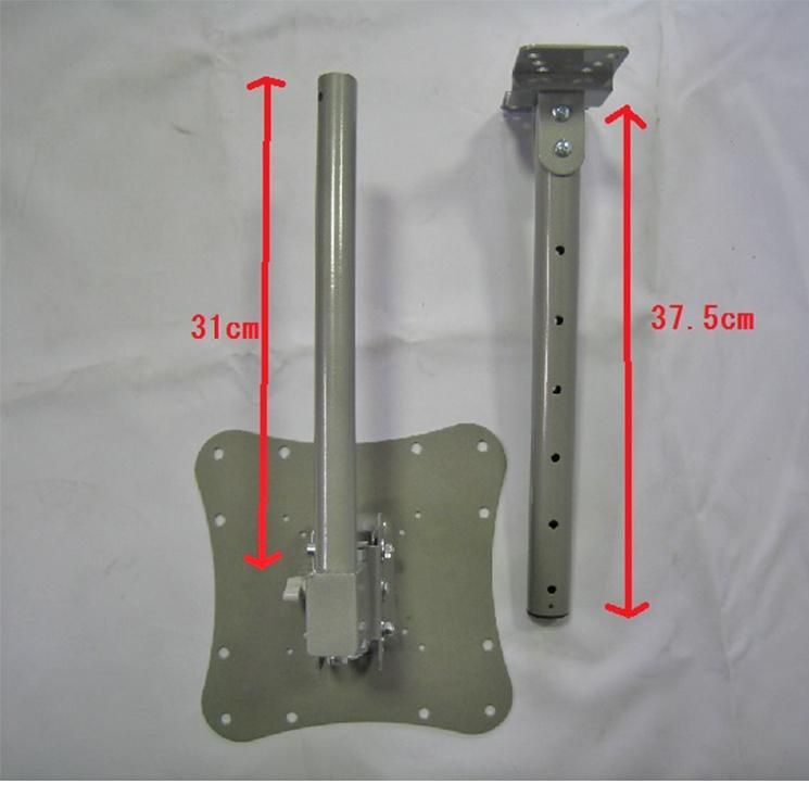 天吊り金具 23型から37型対応 液晶テレビ用 VESA規格対応 上下&左右調整可能 BM-V-808の寸法図です