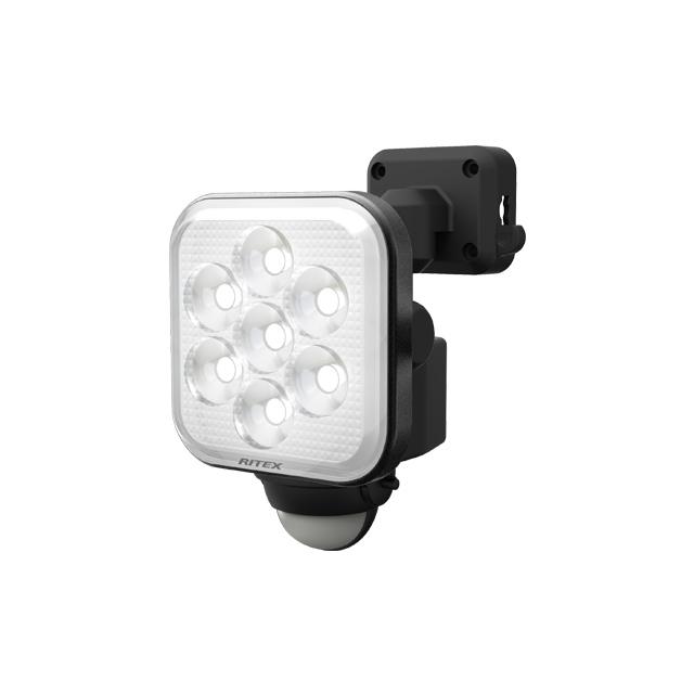 8W×1灯 フリーアーム式LEDセンサーライト(LED-AC1008)