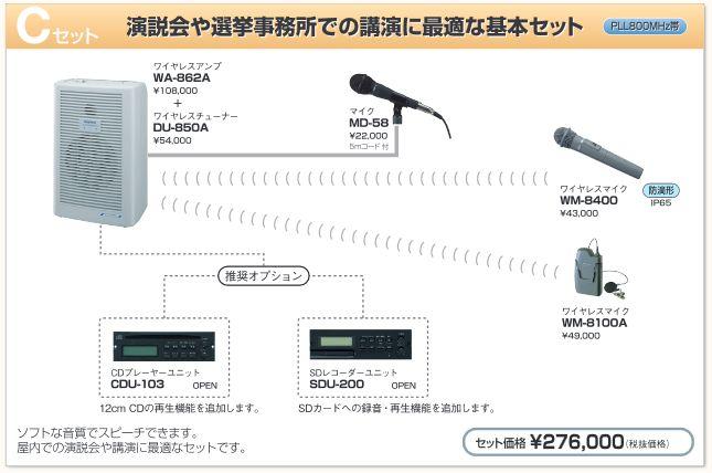 選挙事務所・演説会 スピーチ基本セット C