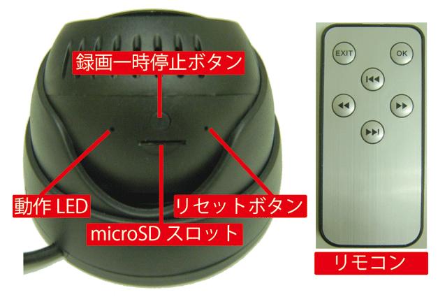 ドーム型ビデオカメラ IT-607DOME 各部名称と機能