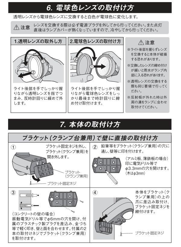 レンズの取り付け方及び本体との取り付け方