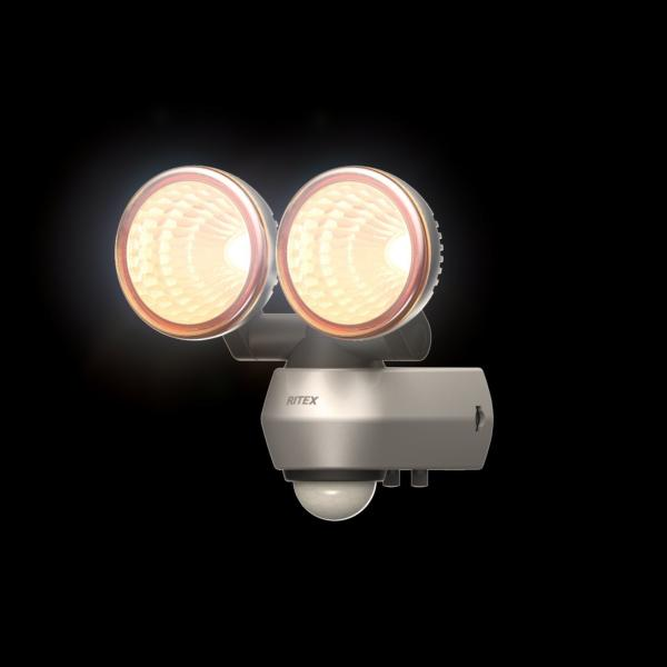 10W 2灯式 360度センサーライト LED-AC2020
