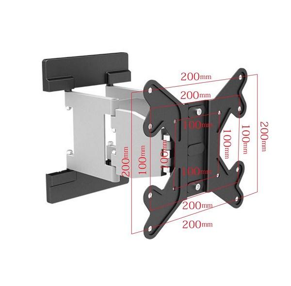 23〜42型 首振り/角度調整式 壁掛け金具 | LPA16-224 寸法図