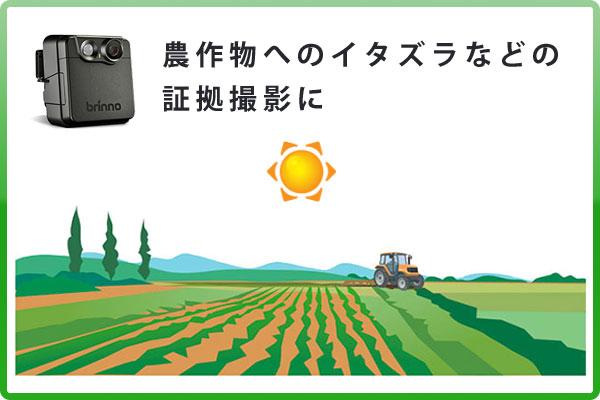 田んぼ、畑、農場の監視に最適な自動録画カメラです