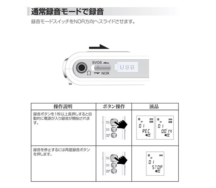 通常録音モードで録音 MR-1000