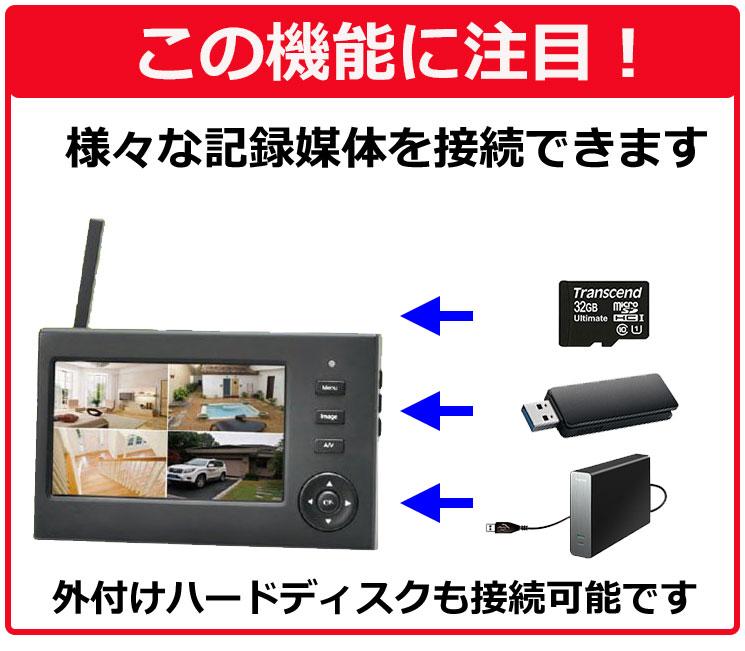 4ch ワイヤレスカメラシステム MT-WCM200 この機能に注目