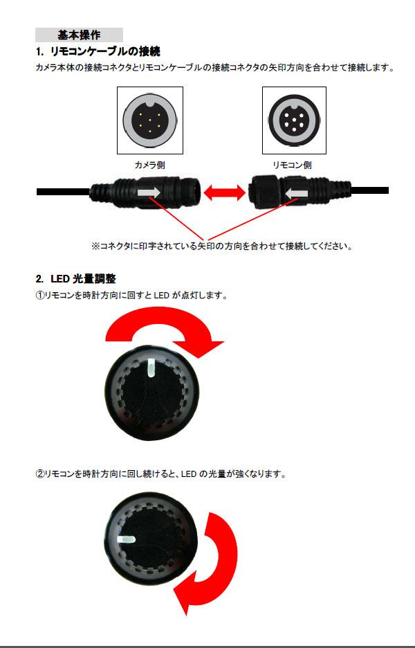高画質水中カメラ MTW-B65の各部説明