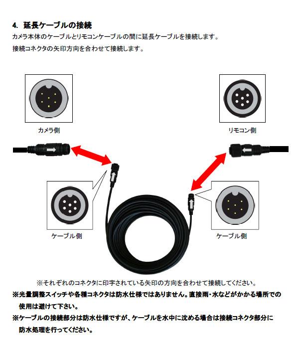 高画質水中カメラ MTW-B65のブラケット固定方法