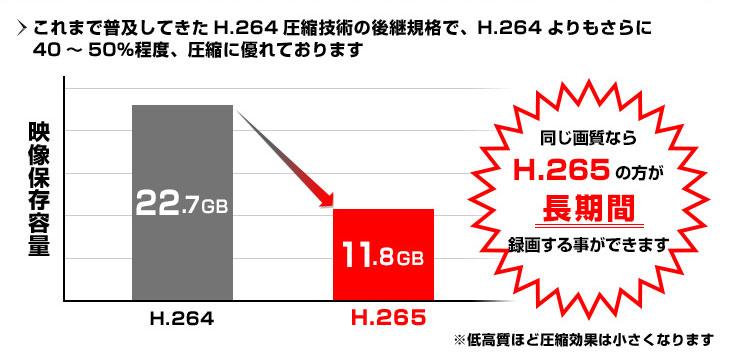 H.265高度圧縮技術