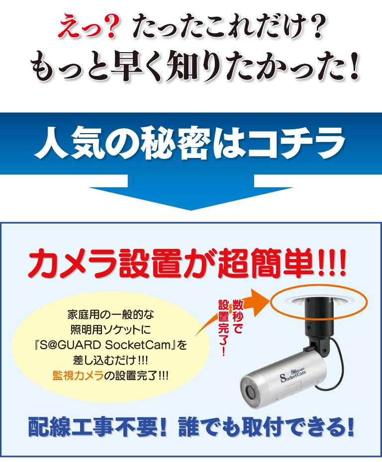 プラグインカム(PlugInCam)ネットワークカメラ簡単取付