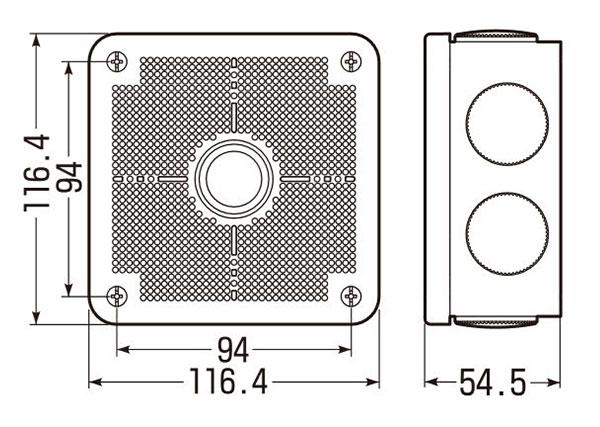 未来工業 PV4B-ANFJ寸法図です