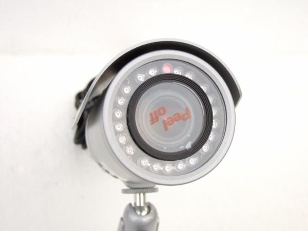 屋外用 防水仕様 防犯カメラ バリフォーカルレンズ搭載 S643TDNの照明写真です。