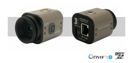 1/2.8型 小型・高感度 ネットワーク カラーカメラ |WAT-2400S