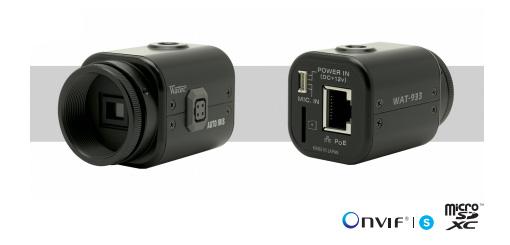 小型・高感度 ネットワーク モノクロカメラ |WAT-933