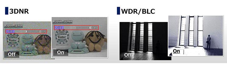 3DNR/WDR/BLCイメージ画像