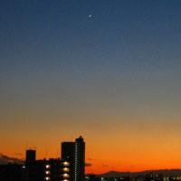 [写真:夕焼けと金星]