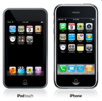 [画像:iPod touchとiPhone]